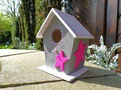 Deko-Vogelhaus Sterne (von Die kleine Holzhütte)