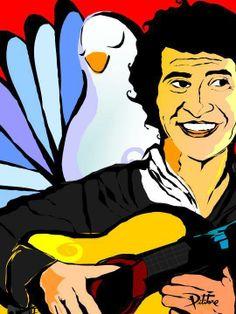 A LO PITITORE... Victor Jara, Latin Music, John Lennon, Disney Characters, Fictional Characters, Culture, Disney Princess, Prints, Painting