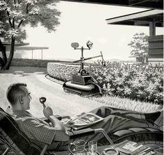 retro future 1960s | Future Lawn Service c. 1960s.