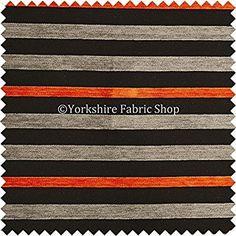 Nuevo Diseño Naranja Gris Negro Con Textura Patrón De Rayas Felpilla Tela Para Tapizar Puede También Usar Para Cortinas Interior Proyectos
