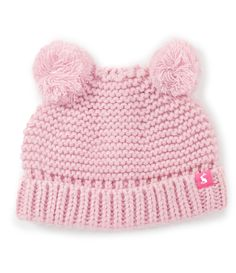 71c32e84113 Joules Baby Girls Newborn-24 Months Knitted Double Pom-Pom Hat