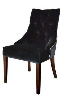 Livina Chair - Black Velvet : Cheaper option for dining Black Velvet, Accent Chairs, Dining Chairs, Interior, Furniture, Home Decor, Upholstered Chairs, Decoration Home, Indoor