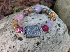 Pink Shades Butterfly  Artisan Sterling focal by HarborGirlDesigns