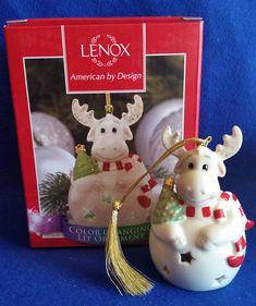 Your place to buy and sell all things handmade Lenox Christmas, Christmas China, Christmas Moose, Green Christmas, Christmas Ornaments, Cow Decor, Vintage Holiday, Star Shape, Red Stripes