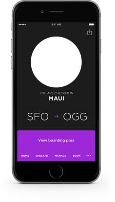 Download the Virgin America mobile app. It makes booking a flight, check-in, and access to your mobile boarding pass super easy. Plus receive flight alerts and more - on the go.