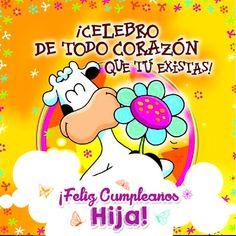 tarjetas de felicitaciones de cumpleaños para una hija-vaca