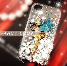 Flower iphone case Bling iPhone 4 case by iPhoneCasesFancylucy, $17.98
