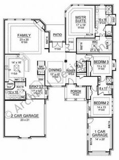 Texas style ranch homes on pinterest texas ranch texas Texas ranch floor plans