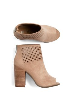 Stitch Fix Fall Styles: Perforated Peep Toe Bootie