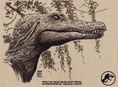 SPINOSAURUS Jurassic Art by Francesco Francavilla