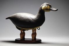 Contemporary Antique Ruddy duck. Hollow body, white cedar, rigged. Yves Laurent 2016