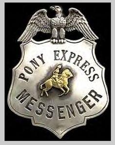 Pony Express Messenger's Badge2 - Pony Express - Wikipedia, the free encyclopedia