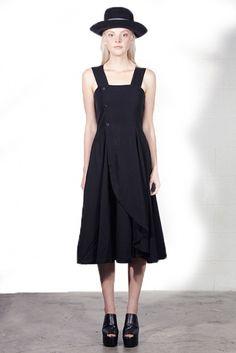 Vintage 1988 COMME DES GARCONS Black PINAFORE Dress