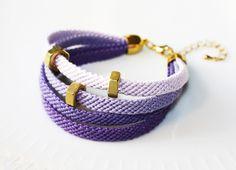 Armband in Lila // Violet bracelet by VANROLT via DaWanda.com