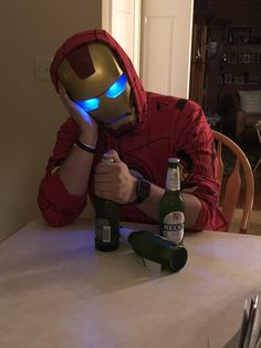 After Infinity War be like (my best friend as Iron Man)