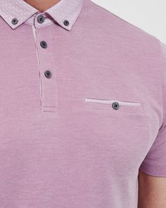 ea9dad4117db Geo print collar polo shirt - Purple
