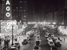 Night Scene of Chicago State Street, c.1953 Print by H. Armstrong Roberts at Art.com