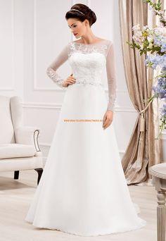 A-linie Edle Tolle Hochzeitskleider aus Organza