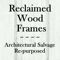 BeamsBoardsBarns on Etsy, various frames out of salvaged materials, selection always unique and changing Reclaimed Wood Frames, Frame Crafts, Architectural Salvage, Repurposed, Etsy Seller, Unique, Prints, Printmaking, Upcycling