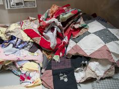 Turn Old/Unfinished Quilts into a Re-Quilt >> http://blog.diynetwork.com/maderemade/how-to/upcycle-old-quilts-to-make-a-requilt/?soc=pinterest