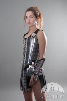 Fantasy armor lady-warrior corset