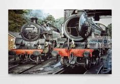 61264 and 80136 On Grosmont Depot Wall Art Print. Available as canvas, metal and wooden block prints. Next Wall Art, Wall Art Prints, Canvas Prints, Wall Art Pictures, Wooden Blocks, Block Prints, Picture Wall, Wall Decor, Metal