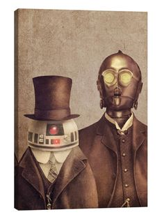 Duke R2 And Baron 3PO Portrait by Terry Fan (Unframed Canvas) from Art for Him on Gilt