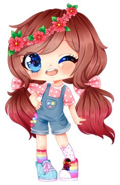 Kawaii Girl Drawings, Cute Animal Drawings Kawaii, Cute Drawings, Chibi Kawaii, Cute Anime Chibi, Anime Cat, Dibujos Anime Chibi, Cute Cartoon Girl, Chibi Characters