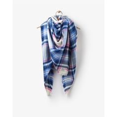 Joules Heyford Large Warm Handle Scarf Cream Check
