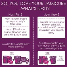 Message me to host or join! email: paigejeffries@yahoo.com shop: http://paigenicolejeffries.jamberrynails.net/