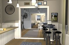 Ravintola/Restaurant 3D-project 3d Projects, Conference Room, Restaurant, Table, Interiors, Furniture, Home Decor, Decoration Home, Room Decor