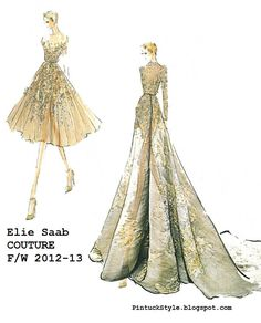 Elie Saab, Couture, F/W 2012-23  from, PintuckStyle.blogspot.com