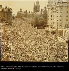 What a picture! Canada Day The centennial celebration. 50 years later, this could be the same scene downtown Ottawa. Canada Day Ottawa, O Canada, Canada Travel, Canadian Forest, Capital Of Canada, Beautiful Places To Live, Ottawa Ontario, Canadian History, Photos Du