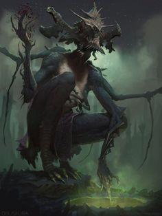 The Blood Bond – fantasy/horror concept by Alex Konstad Monster Art, Fantasy Monster, Monster Design, Dark Fantasy Art, Fantasy Artwork, Fantasy World, Demon Artwork, Dark Art, Dark Creatures