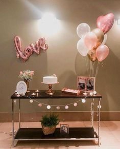 Birthday Party Table Decorations, Birthday Party Tables, Balloon Decorations Party, Decoration Table, Birthday Balloons, Birthday Girl Pictures, Partys, Holidays And Events, Wedding
