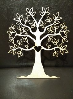 Laser Cut Mdf Tree Heart 20cmx18cm
