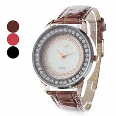 Tanboo Women's Simple Style PU Analog Quartz Wrist Watch (Assorted Colors) by Tanboo. $13.99. Casual Watches. Women's Watche. Wrist Watches. Gender:Women'sMovement:QuartzDisplay:AnalogStyle:Wrist WatchesType:Casual WatchesBand Material:PUBand Color:Brown, Red, BlackCase Diameter Approx (cm):4.3Case Thickness Approx (cm):1.1Band Length Approx (cm):24.5Band Width Approx (cm):1.7