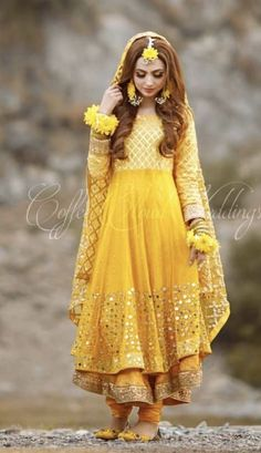 Nov 2019 - Latest Pakistani Designers Bridal Dresses & Embroidery Collections, Wedding Lehenga, Sharara best price for every woman Shop from our Elegant Pakistani Mehndi Dress, Bridal Mehndi Dresses, Pakistani Fashion Party Wear, Mehendi Outfits, Pakistani Wedding Outfits, Pakistani Dresses Casual, Indian Bridal Outfits, Indian Fashion Dresses, Bridal Dress Design