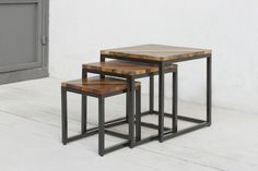 via: DESIGN drinkup | Duke Nesting Table by Aeollon, Brooklyn #designdrinkup
