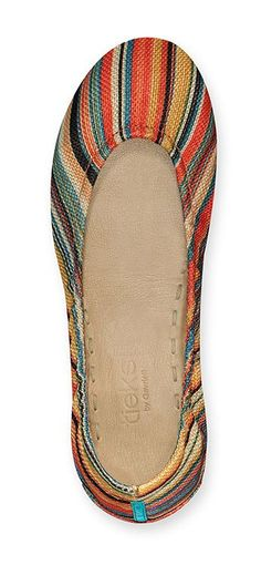 Tieks Sunset Stripe Ballet Flat