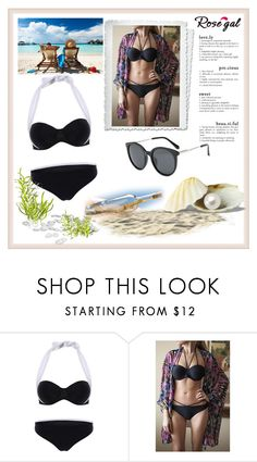 """""""Gone To The Beach - Rosegal 48"""" by aazraa ❤ liked on Polyvore"""
