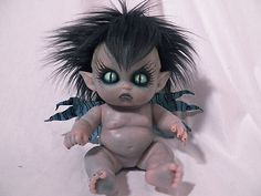 OOAK Krypt Kiddies Fairy Goth Fae Vampire Horror Demon Reborn Doll Evil | eBay
