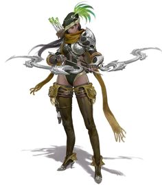 ArtStation - Archer, JG Yoon Rpg Character, Character Design, Character Illustration, Superhero Design, Archer Characters, Character Design Girl, Creature Design, Playing Character, Character Design References