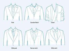After years of slim, subtle notch lapels on men's suits, some labels are designing bolder, more pronounced lapels