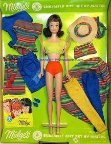 My Vintage Barbies Blog: Barbie of the Month: Midge's Ensemble Gift Set