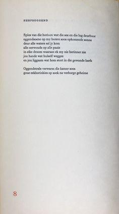 Afrikaanse gedig - Ingrid Jonker, Rook en Oker Rook, Afrikaans, Poetry, Cards Against Humanity, Poetry Books, Poem, Poems