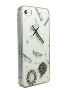 Clear Zipper,Cross and Gear for iPhone4/4S