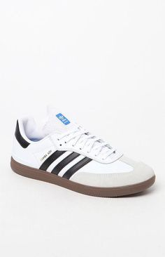 buy popular 0d5b1 1351e  75 adidas Samba ADV White Black   Gum Shoes