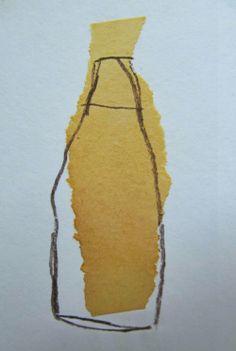 """""""Alauda"""", Papier, paper collage, 10 x 15 cm."""
