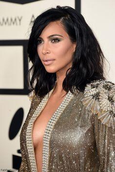 Kim Kardashian wearing Jean Paul Gaultier Couture dress at the 2015 GRAMMY Awards. #kimye #kimkardashian